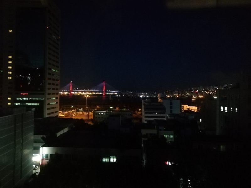 東横イン釜山駅前2の夜景