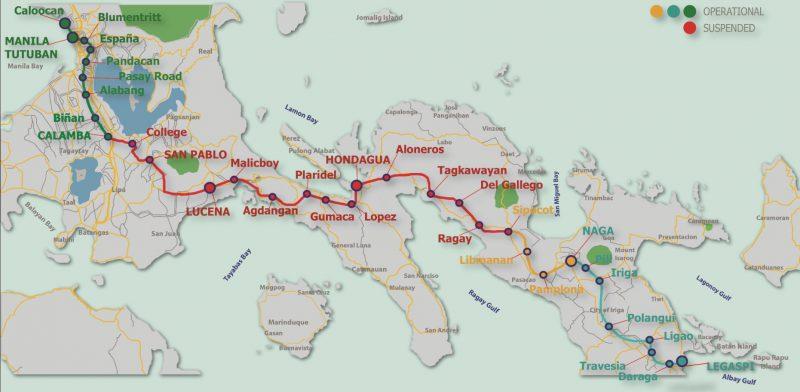 フィリピン国鉄路線図